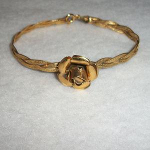 Jewelry - ITALIAN Gold .925 Sterling Silver ROSE Bracelet
